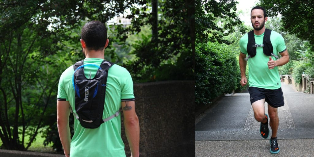 How to carry water while running -hydration vest from front and back side