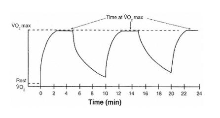Daniels Running Formula Interval Runs stressing maximum oxygen consumption levels