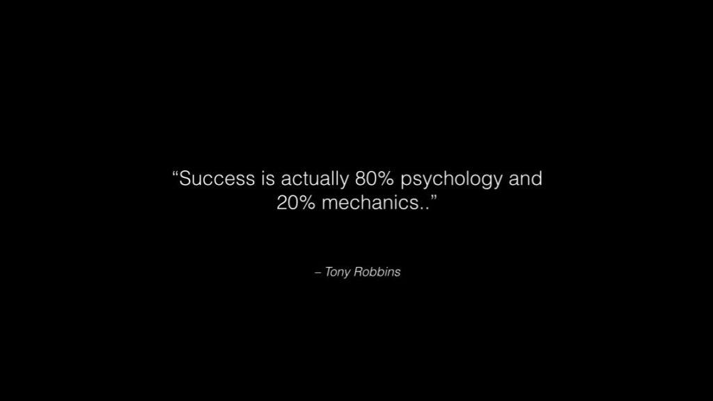 Importance of mental preparation